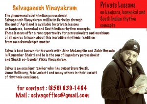 Selva Ganesh percussion lessons
